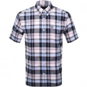 Product Image for Fred Perry Short Sleeved Madras Check Shirt Pink